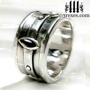 mens-silver-moorish-marquise-engagement-ring-black-onyx-gothic-stone-3-rexes-jewelry