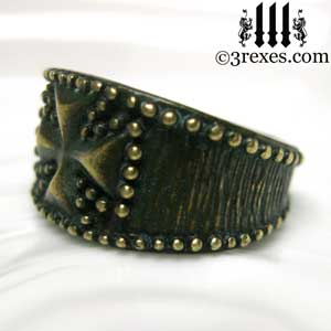 mens-studded-iron-cross-ring-knights-templar-band-dark-brass-2-3-rexes-jewelry