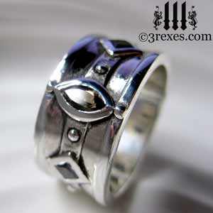mens-ring-moorish-medieval-topaz-black-diamond--wedding-band