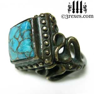 raven-love-ring-brass-blue-turquoise-side-detail