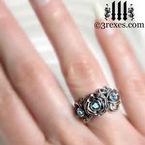 silver-rose-moon-spider-ring-blue-topaz-stone-wedding-finger