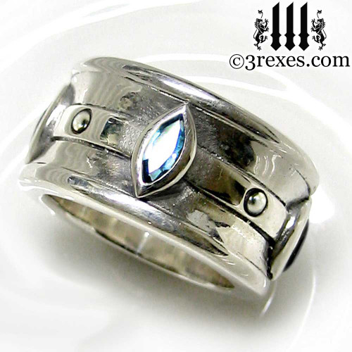 moorish marquise wedding ring 3 rexes jewelry - Marquis Wedding Ring