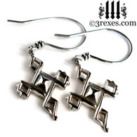 Mini Celtic Cross Charm Earrings