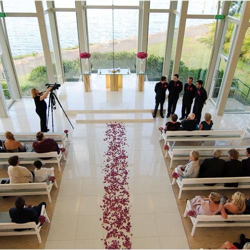Diana Awad Wedding Flowers Chapel Rose Petals