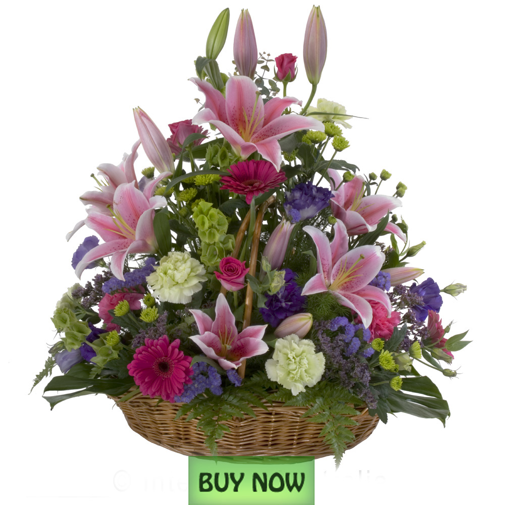 Flower Basket Arrangements Pictures : Flowers gold coast australia sympathy
