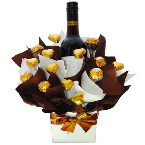 Wine and chocolates home delivery to Gold Coast.