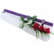 Lasting Love - 3 Red Rose Flowers presented in our signature silk lined Hollywood Box with diamante buckle accent.