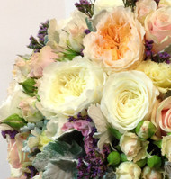 David Austin Roses, Clustar Roses, Garden roses and spray roses in a vintage Wedding Posy - Vintage Wedding Package