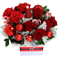 Ho Ho Ho Festive Christmas Box Arrangement Botanique Flowers Gold Coast