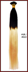 "20"" Stick Tip Human Hair Extension Reverse Dip Dye #1b/#613"
