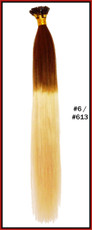 "20"" Stick Tip Human Hair Extension Reverse Dip Dye #6/#613"