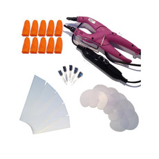 31 Piece Temperature Controlled Fusion Heat Iron Kit - Hot Pink #1