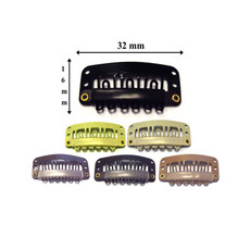 Hair Extension Snap Clips for Wig Weft 32mm - 10 Pieces