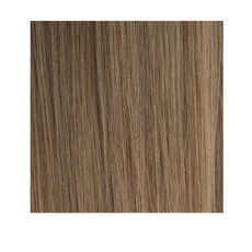 "14"" Double Drawn Nano Tip 100% Human Remy Hair Extensions - #8 Light Brown"