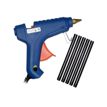 Blue Glue Gun with Black Glue