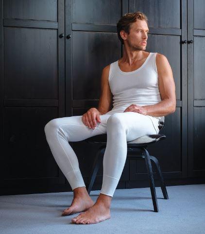 Mens Sleeveless Thermal Vest top