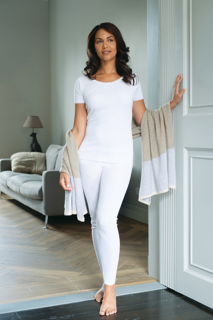 Womens Brushed Thermal Tops in long or short sleeve