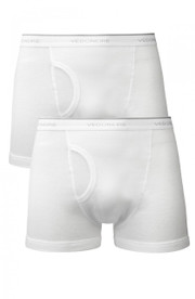 2 pack of white keyhole boxers (2282)