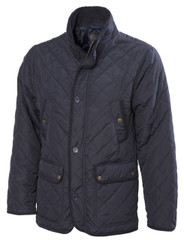 3036 Mens Quilted Jacket with buttons (navy)
