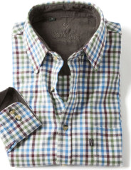 Men's Brushed Cotton Tattersall Shirt (2280) Maya