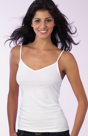 Womens White Cotton Cami Vest by Vedoneire