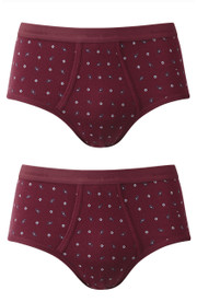 Vedoneire Mens patterned Executive Briefs (2214) in Wine.