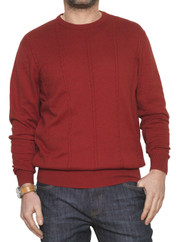 4707 Red Cable Knit Jumper