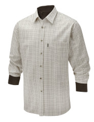 Mens Brushed Cotton Tattersall Shirt (2280) Brown Tattersall