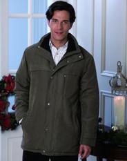 Men's Microfibre Jacket (Khaki Green 3035) microfibre winter coat