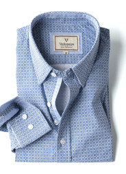 Men's Fine Cotton Printed Shirt (2261) Blue