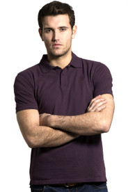 Men's Cotton Polo Shirt (3025) Aubergine