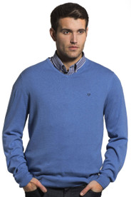 Vedoneire of Ireland (4200 Blue Melange fine gauge jumper)