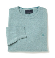 Men's Fine Gauge Cotton Crew Neck Jumper (4201) Ethereal
