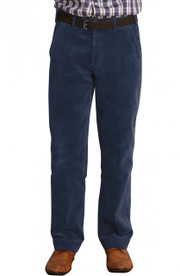 Men's Comfort Fit Cord Trousers  (Navy 3500)