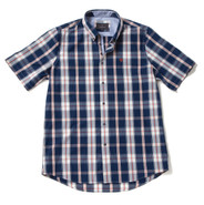 Men's Soft Wash Cotton Short Sleeve Check Shirt (2279 Melville) by Vedoneire of Ireland
