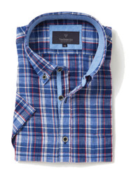 Mens Short Sleeve Linen Shirt (style 2105 Jackson) for a fresh summer style.