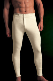 Vedoneire Mens Merino Wool Long Johns with button front.