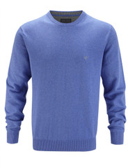 Men's Cotton Crew Neck Jumper (Blue 4301)