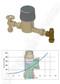 AVG PRESSURE LIMITING VALVE BOUNDARY 20mm 500KPA Right Angle Copper x Female - Pressure Loss