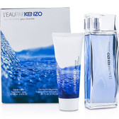 L'Eau Par Kenzo 2pc EDT 3.4oz / All Over Shampoo 2.5oz Gift Set Men