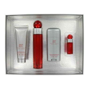 360 Red by Perry Ellis 4pc 3.4oz Gift Set Men