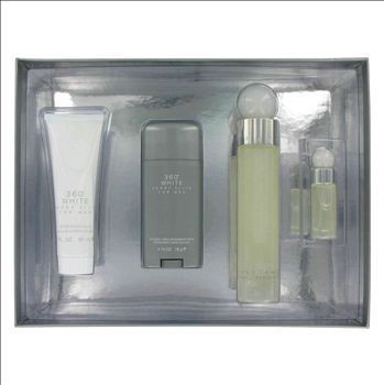 360 White by Perry Ellis 4pc 3.4oz Gift Set Men