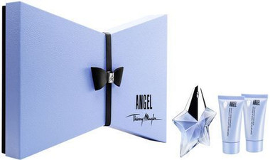 Angel by Thierry Mugler 4pc 0.8oz Perfume Gift Set For Women