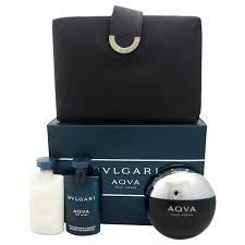 Aqva by Bvlgari 4pc Cologne Gift Set For Men