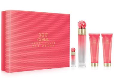 360 Coral Perry Ellis 4pc Perfume Set