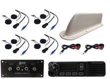 4-Place Intercom and Digital VHF 45-Watt Radio Helmet Kit