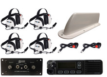 4-Place Intercom and Digital VHF 45-Watt Radio Kit