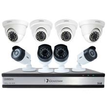 Uniden Guardian G71644D3 3TB DVR (4 Bullet & 4 Dome Cameras) Wired Video Surveillance System