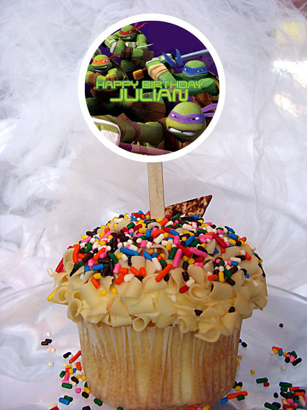 Ninja Turtles cupcake toppers