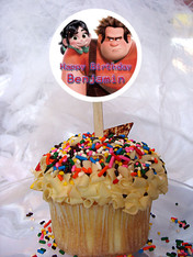 Wreck it Ralph Cupcake Toppers